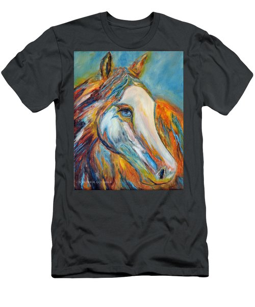 Painted Horse Sensation Men's T-Shirt (Slim Fit) by Jennifer Godshalk