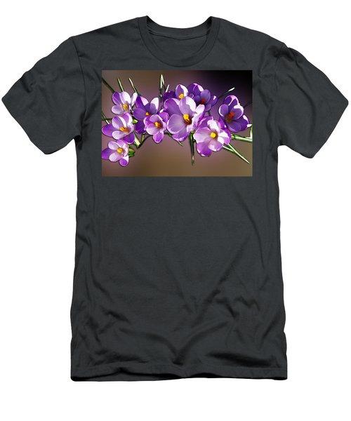 Men's T-Shirt (Slim Fit) featuring the photograph Painted Violets by John Haldane