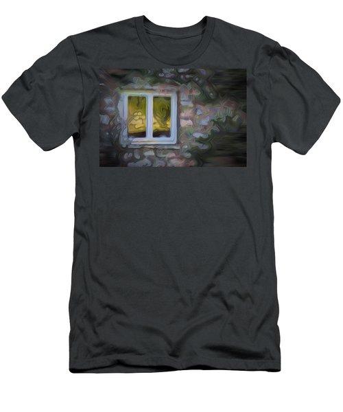 Painted Window Men's T-Shirt (Slim Fit) by Carol Crisafi
