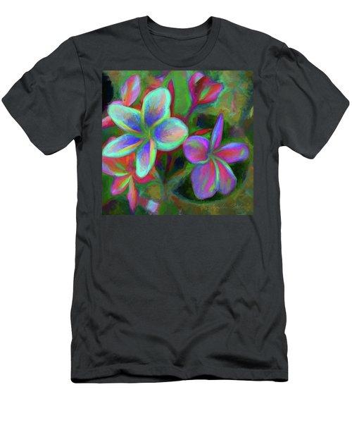 Painterly Frangipanis Men's T-Shirt (Athletic Fit)