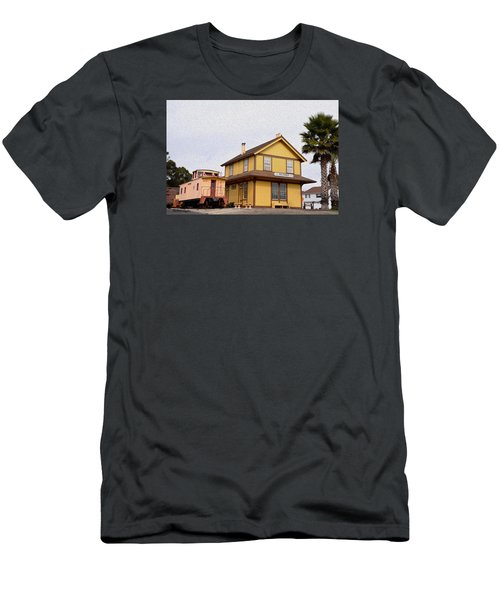 Painting Oceano Depot Museum Men's T-Shirt (Athletic Fit)