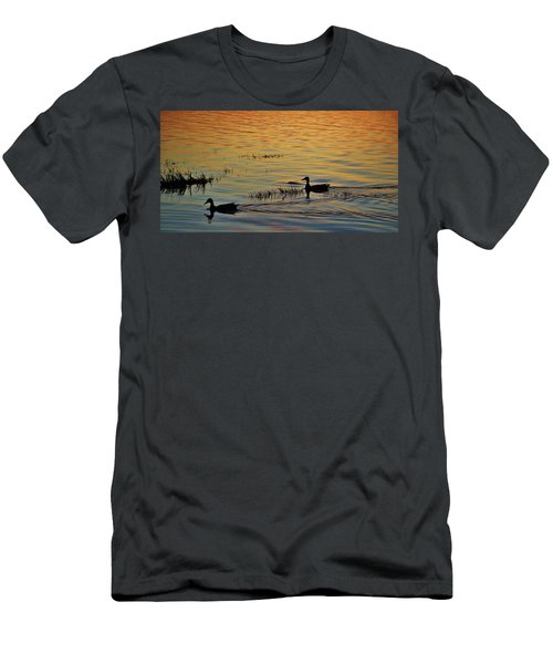 Pair Of Paddlers Men's T-Shirt (Slim Fit) by William Bartholomew