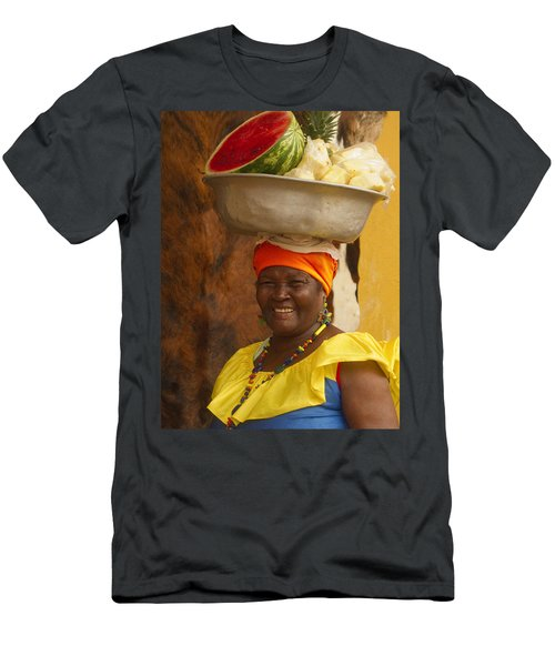 Palenquera In Cartagena Colombia Men's T-Shirt (Athletic Fit)