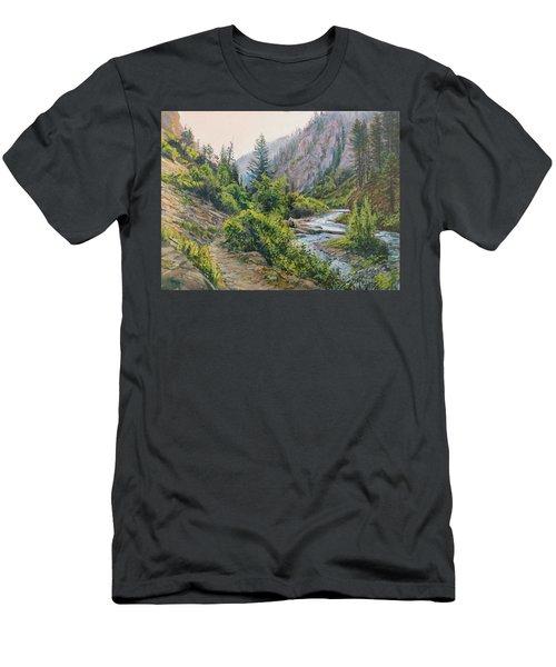 Palisades Creek  Men's T-Shirt (Slim Fit) by Steve Spencer