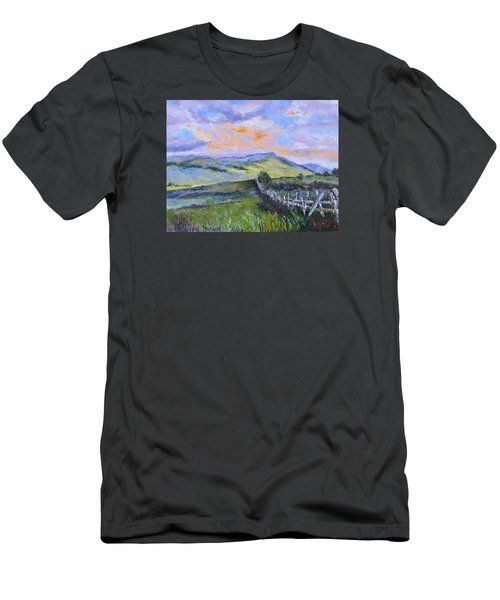 Pallet Knife Sunset Men's T-Shirt (Slim Fit) by Lisa Boyd