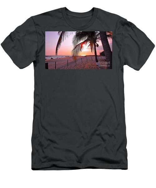 Palm Collection - Sunset Men's T-Shirt (Slim Fit) by Victor K