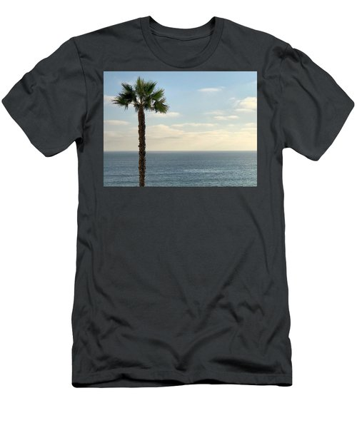 Men's T-Shirt (Athletic Fit) featuring the photograph Palm Over The Sea by Brian Eberly