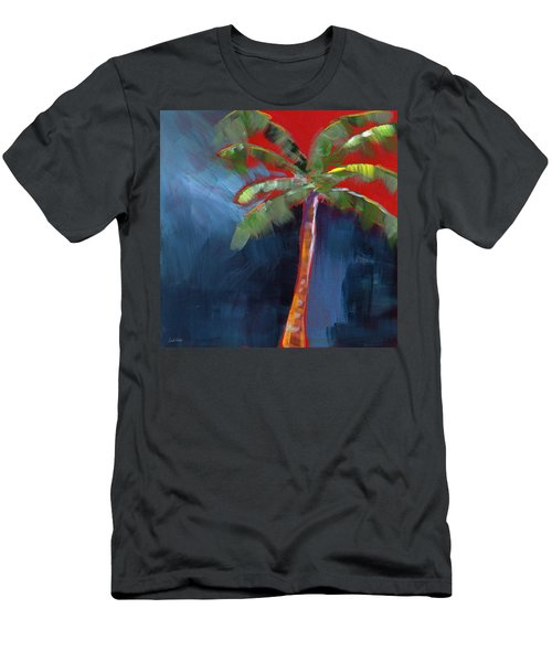 Palm Tree- Art By Linda Woods Men's T-Shirt (Athletic Fit)