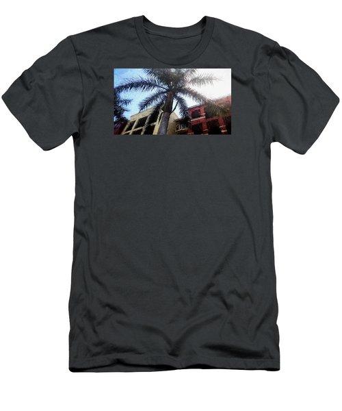 Palm Tree Art Men's T-Shirt (Slim Fit) by Rena Trepanier