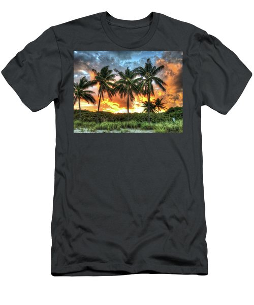 Palms On Fire Men's T-Shirt (Slim Fit) by Steven Lebron Langston