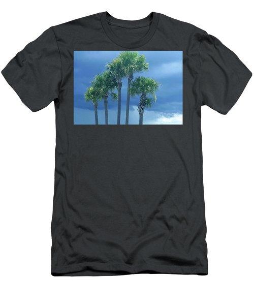 Palmy Skies Men's T-Shirt (Slim Fit) by Rachel Hannah