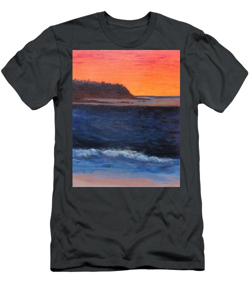 Men's T-Shirt (Slim Fit) featuring the painting Palos Verdes Sunset by Jamie Frier