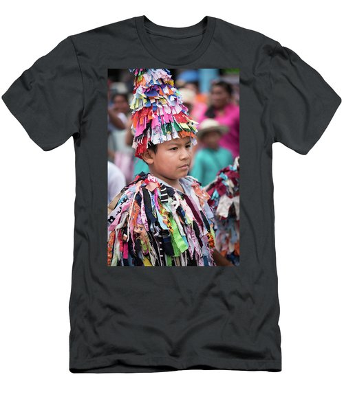 Panamanian Boy In Traditonal Costume Men's T-Shirt (Athletic Fit)