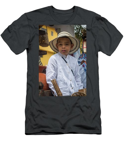 Panamanian Boy On Float In Parade Men's T-Shirt (Athletic Fit)