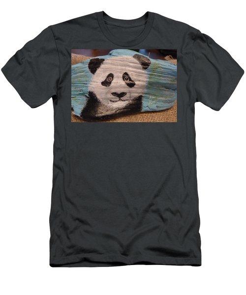 Panda Men's T-Shirt (Slim Fit) by Ann Michelle Swadener