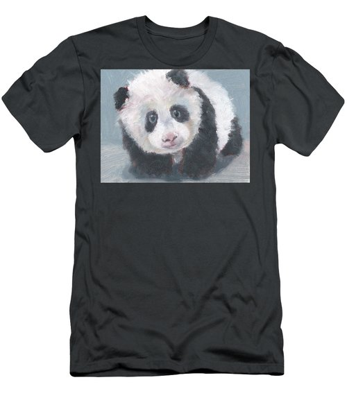 Panda For Panda Men's T-Shirt (Slim Fit) by Jessmyne Stephenson