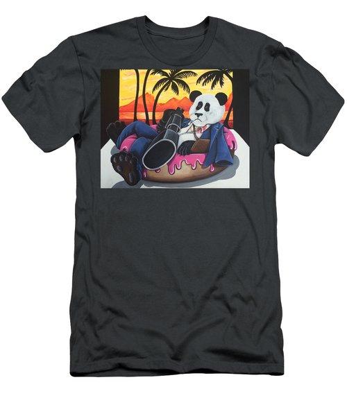 Panda Montana Men's T-Shirt (Athletic Fit)