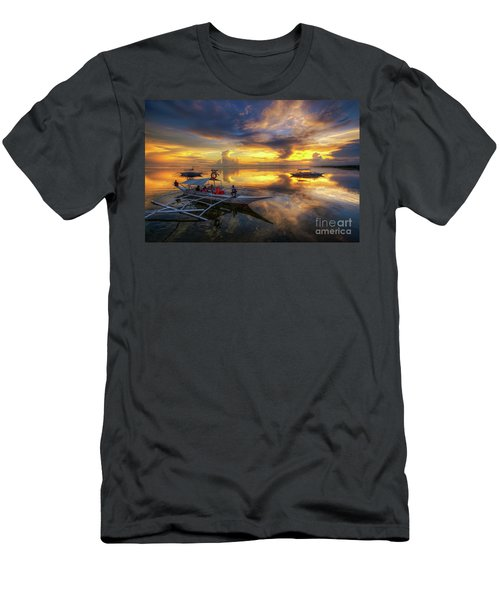Men's T-Shirt (Slim Fit) featuring the photograph Panglao Port Sunset 10.0 by Yhun Suarez