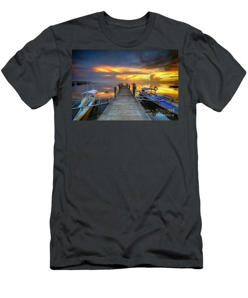 Men's T-Shirt (Slim Fit) featuring the photograph Panglao Port Sunset 8.0 by Yhun Suarez