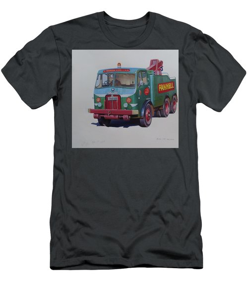 Men's T-Shirt (Slim Fit) featuring the painting Pannell Leyland Wrecker. by Mike Jeffries