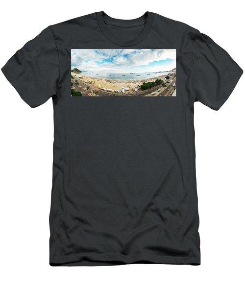 Panorama Of Copacabana, Rio De Janeiro, Brazil  Men's T-Shirt (Athletic Fit)
