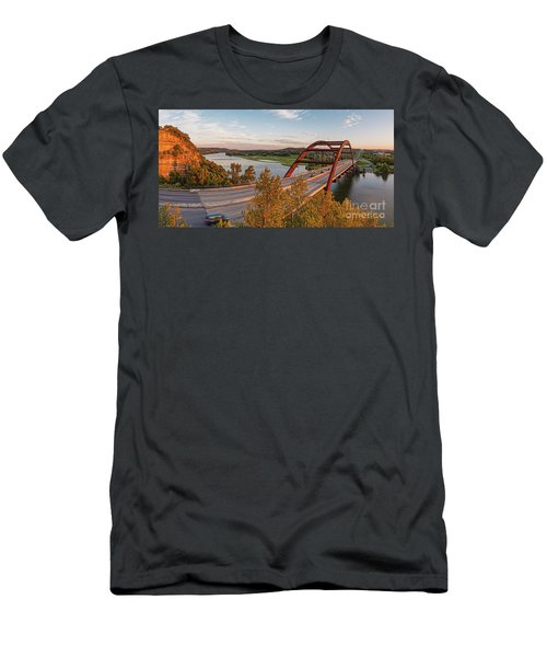 Panorama Of Lake Austin And Texas Hill Country From Highway 360 Overlook - Austin Texas Men's T-Shirt (Athletic Fit)