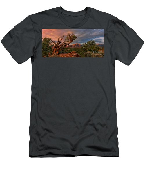 Panorama Storm Back Of Zion Near Hurricane Utah Men's T-Shirt (Athletic Fit)