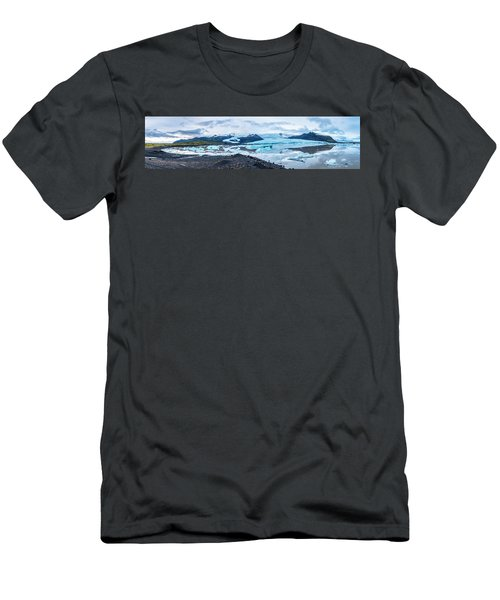 Panorama View Of Icland's Secret Lagoon Men's T-Shirt (Athletic Fit)