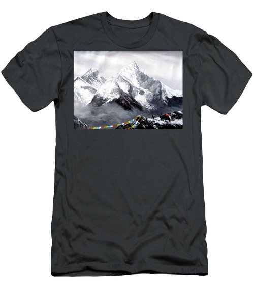 Panoramic View Of Everest Mountain Men's T-Shirt (Athletic Fit)