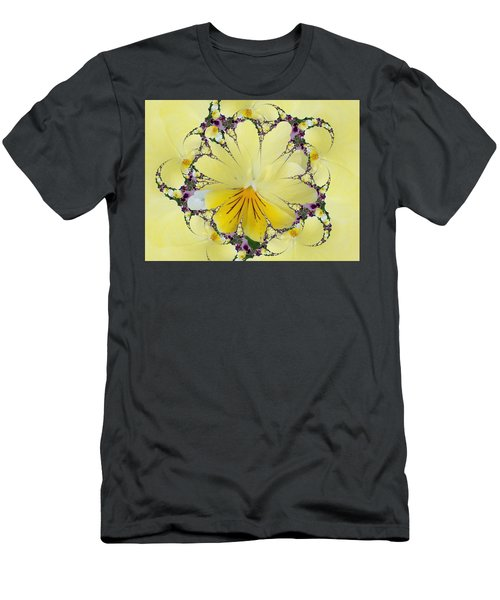 Pansy Swirls Men's T-Shirt (Athletic Fit)