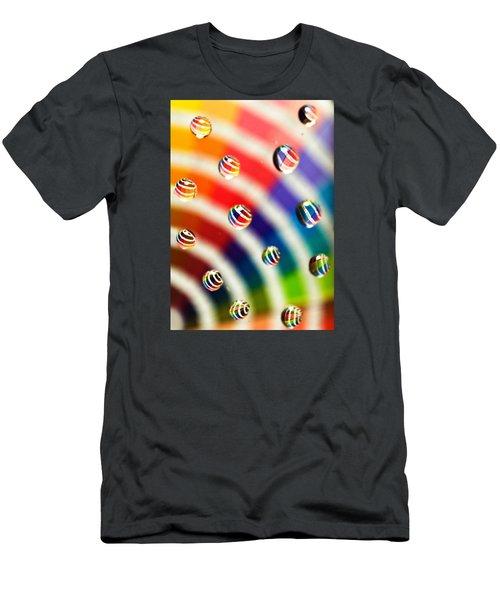 Pantone Bubbles Men's T-Shirt (Slim Fit) by Shawna Rowe