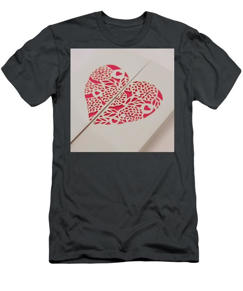 Paper Cut Heart Men's T-Shirt (Athletic Fit)