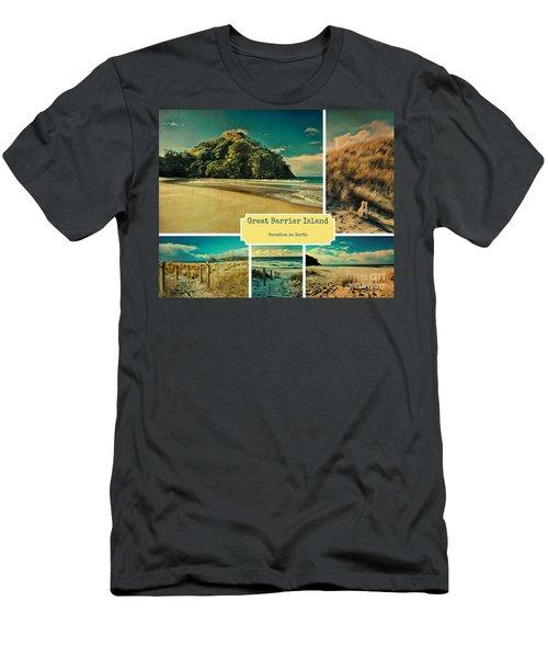 Paradise At The Barrier Men's T-Shirt (Slim Fit) by Karen Lewis