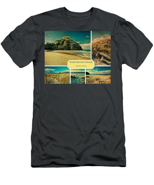 Paradise At The Barrier Men's T-Shirt (Athletic Fit)