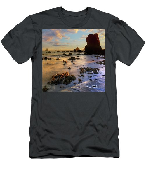 Paradise On Earth Men's T-Shirt (Slim Fit) by Tim Fitzharris