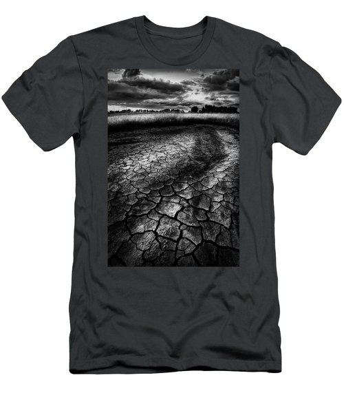 Men's T-Shirt (Slim Fit) featuring the photograph Parched Prairie by Dan Jurak
