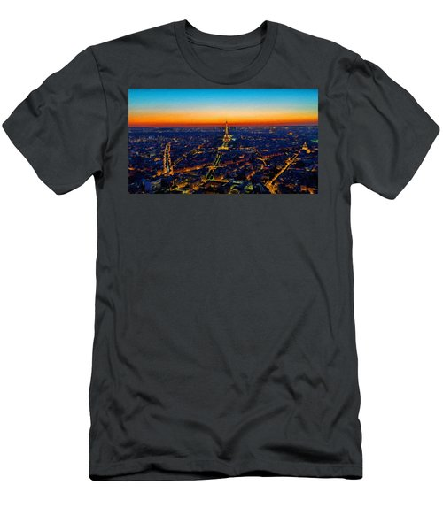Paris After Sunset Men's T-Shirt (Athletic Fit)