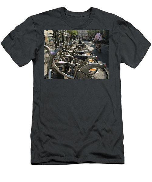 Paris By Bike Men's T-Shirt (Slim Fit) by Yoel Koskas