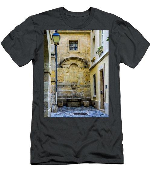 Paris Corner Le Marais Men's T-Shirt (Slim Fit) by Sally Ross