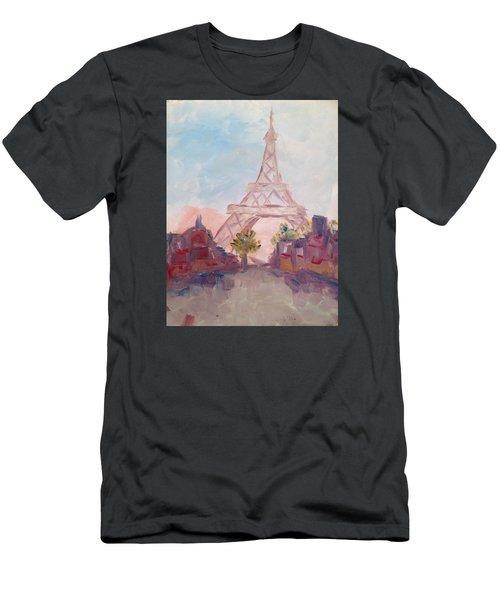 Paris In Pastel Men's T-Shirt (Slim Fit) by Roxy Rich