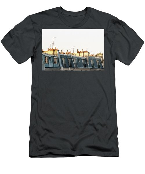 Men's T-Shirt (Athletic Fit) featuring the photograph Paris Rooftops by Frank DiMarco