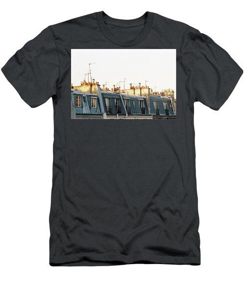 Paris Rooftops Men's T-Shirt (Athletic Fit)