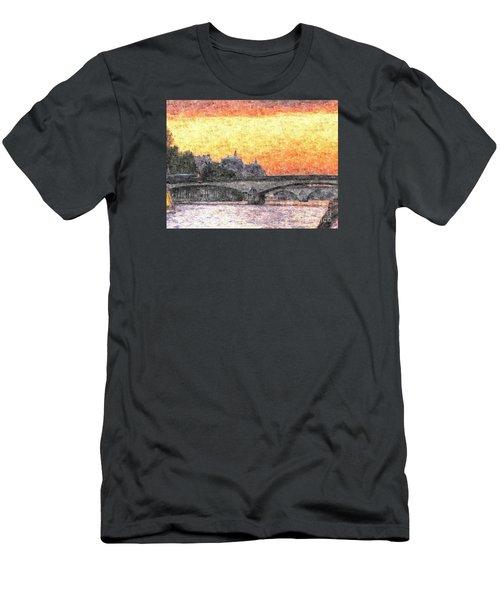 Paris Sunset Men's T-Shirt (Slim Fit) by Yury Bashkin