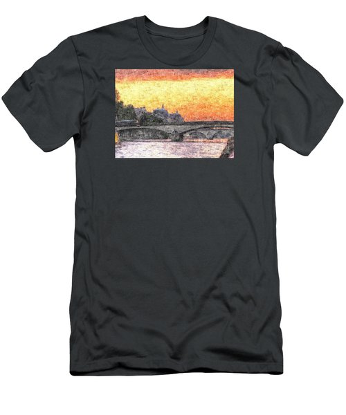 Paris Sunset Men's T-Shirt (Athletic Fit)