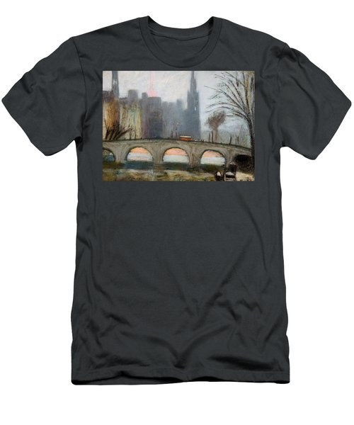 Men's T-Shirt (Slim Fit) featuring the painting Parisian Gray by Gary Coleman