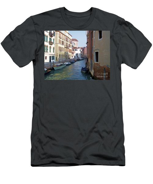 Men's T-Shirt (Slim Fit) featuring the photograph Parked In Venice by Roberta Byram