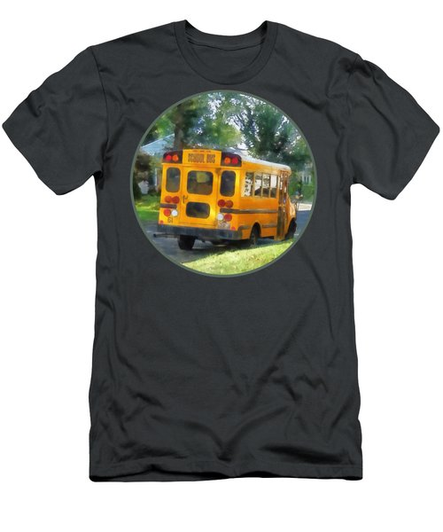 Parked School Bus Men's T-Shirt (Athletic Fit)