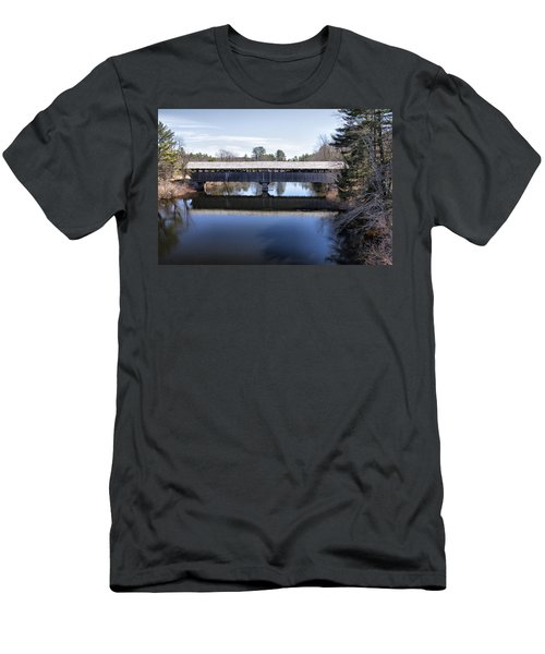 Parsonfield Porter Covered Bridge Men's T-Shirt (Slim Fit) by Betty Pauwels