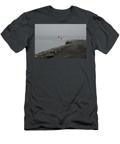 Men's T-Shirt (Athletic Fit) featuring the photograph Passing In The Fog by Jeff Folger