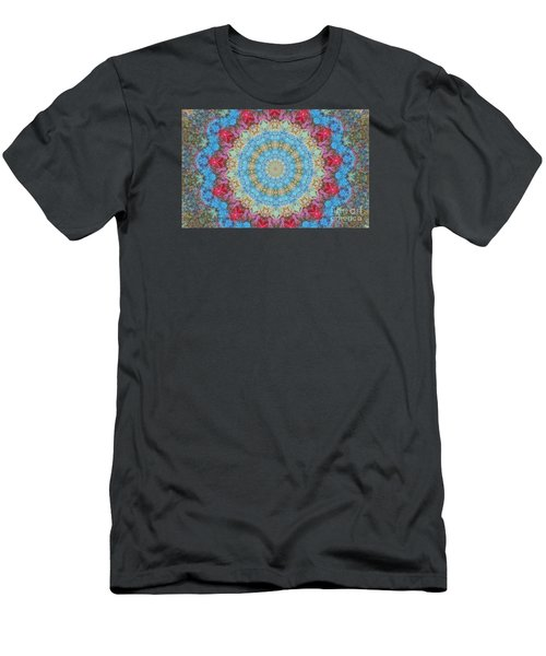 Men's T-Shirt (Slim Fit) featuring the photograph Pastel Medallion 2 by Shirley Moravec